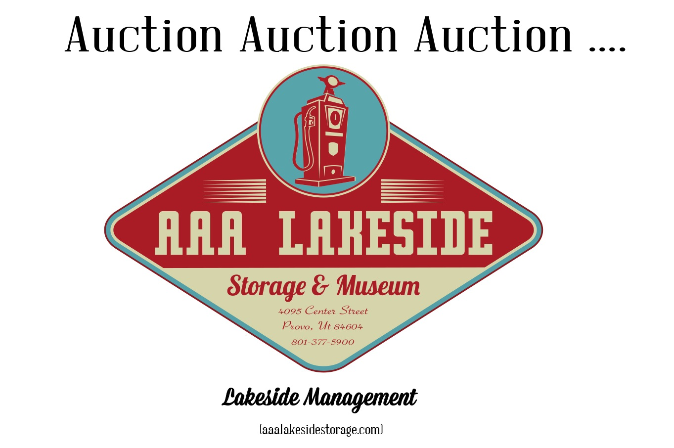 Join us tomorrow Saturday, April 8th at 11AM for an auction! Tomorrow we will be auctioning O140, which includes mopeds & a motorcycle. The 2 boats & pull behind camper have been rescheduled due to lien & paperwork delays.