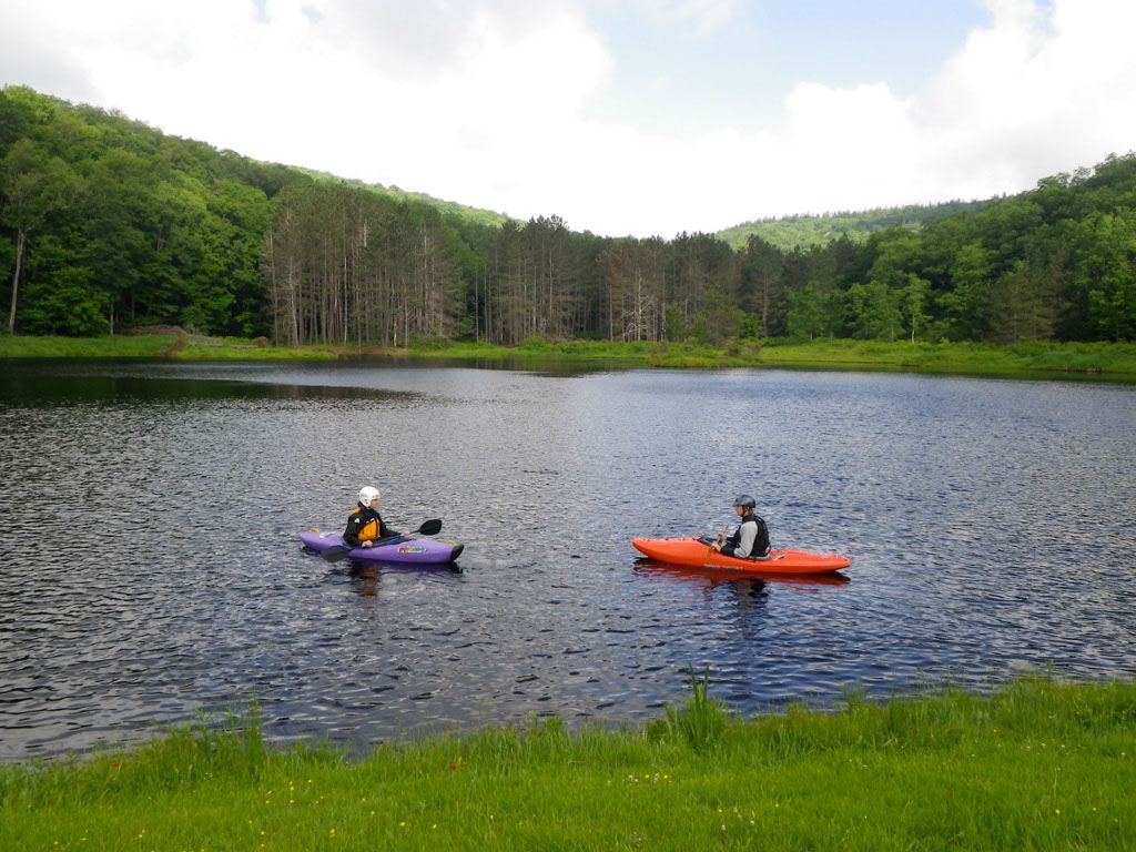 The kayakers: David and Anna