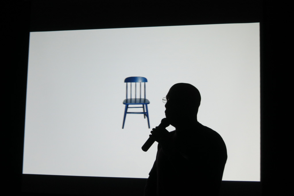 Michael and the chair.