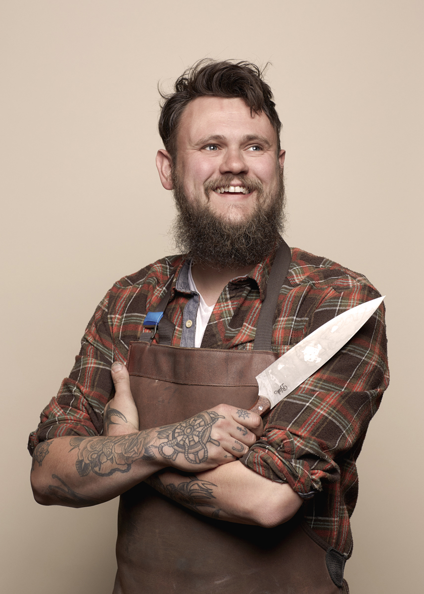 Artisan knife-maker Ben Edmonds of Blok Knives lives and works in a small Derbyshire town. Ben was a full-time web and graphic designer for 12 years, before he took the plunge and dedicated his time to knife-making. Blok knives are wrought from a true craftsman's ingredients of local materials, traditional methods and a great deal of time, hard graft and love. The blades are hand-crafted from ground carbon steel and finished with beautifully simple wooden handles. As with all hand-made objects, each knife is one-off, unique and perfectly flawed in its own way.See the full story here  http://www.tombunning.com/blok-knives/