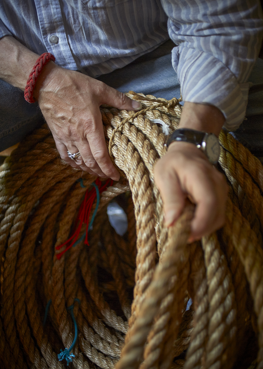 Des Pawson MBE. One of the world's leading authorities on knots and sailors rope work. Photographed at his home in Ipswich for part of my 'Crafted' series.   See the full image set here:   www.tombunning.com