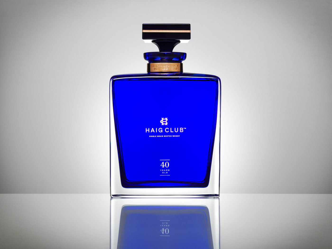 David Beckham's birthday present from Haig Club. I photographed the creation of this bottle from start to finish, from the blowing of the glass to the gifting on his birthday.