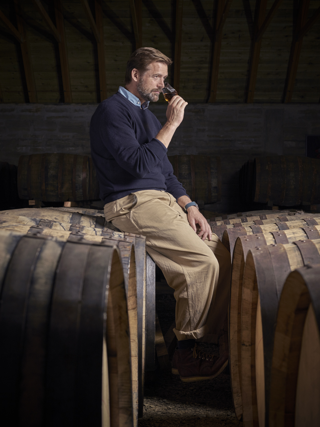 At the end of August I travelled to the village of Knock to photograph Patrick Grant of E.Tautz at Knockdhu Distillery. Patrick is collaborating with anCnoc to craft a bespoke print which will draw inspiration from their single malt's heritage, character, and indeed the time-honoured production methods used at Knockdhu distillery.