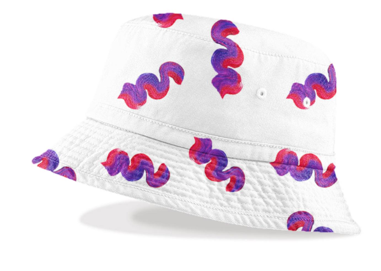WAVY HAT    Cotton Bucket Hat      Forty Eight Dollars