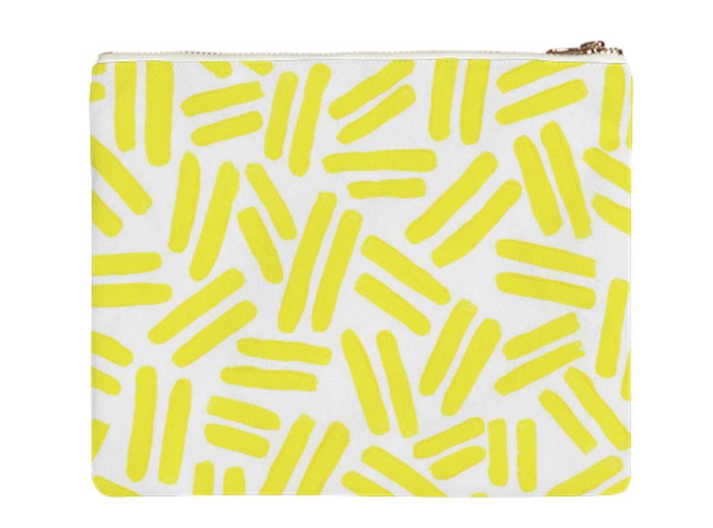 """DASH BAG    Canvas Clutch  10"""" w x 9"""" h       Seventy Two Dollars"""