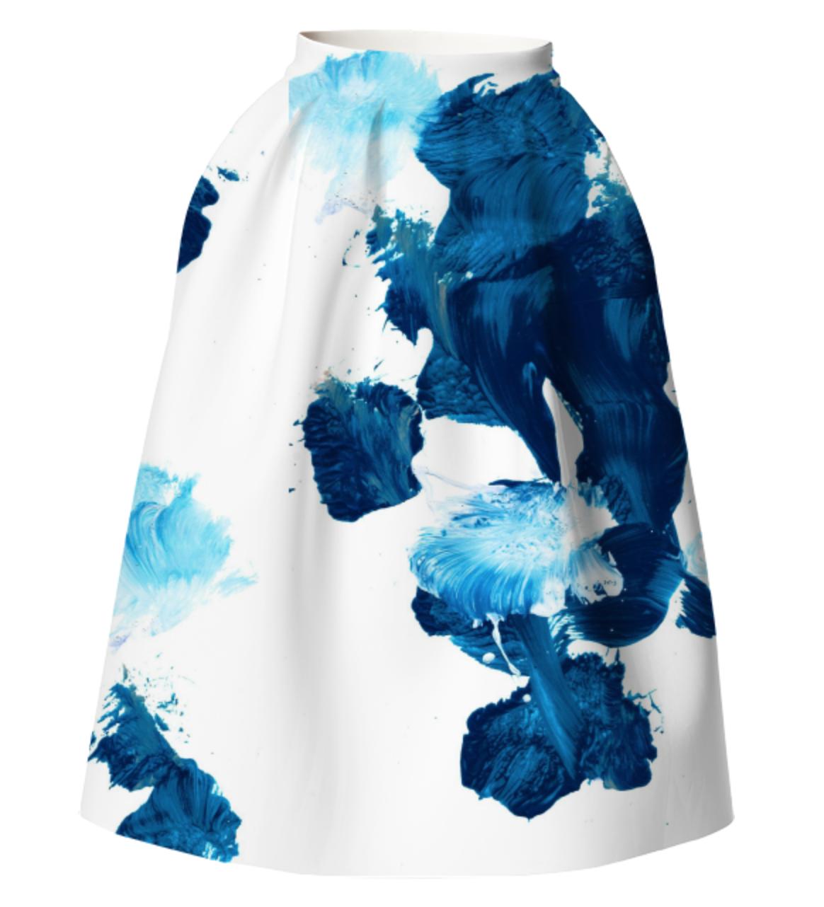 UNTITLED SKIRT    Neoprene Full Skirt      One Hundred Forty Two Dollars