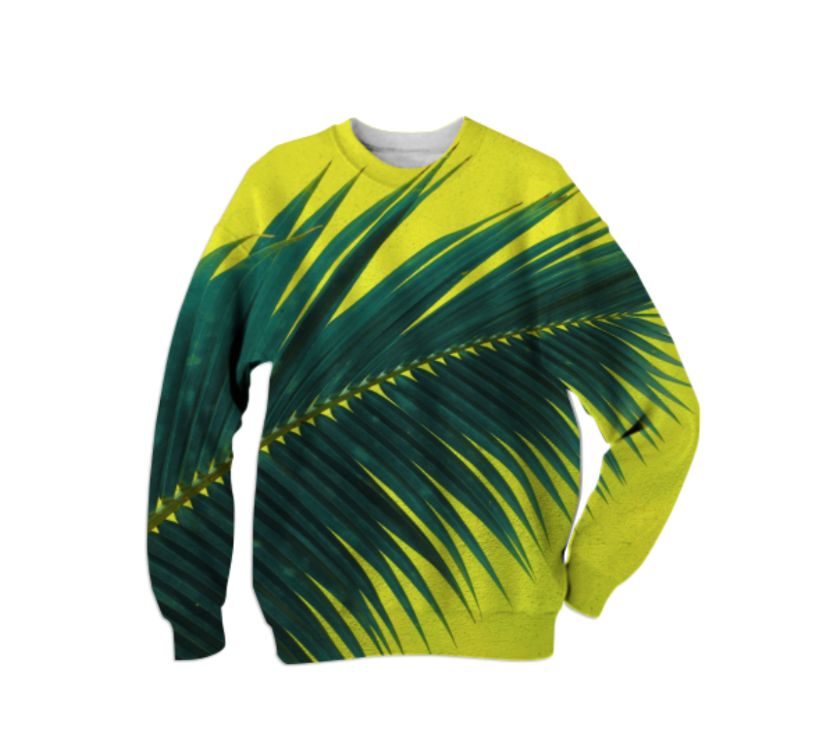 PALMY SWEATSHIRT    Cotton Sweatshirt      Sixty Eight Dollars