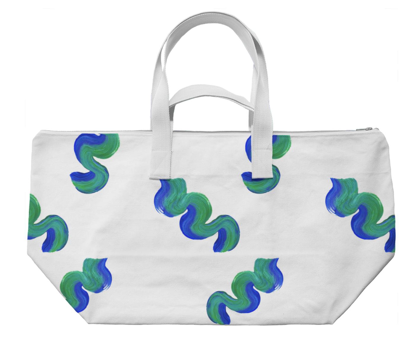 WAVY WEEKENDER II    Cotton Canvas Bag      Seventy Five Dollars