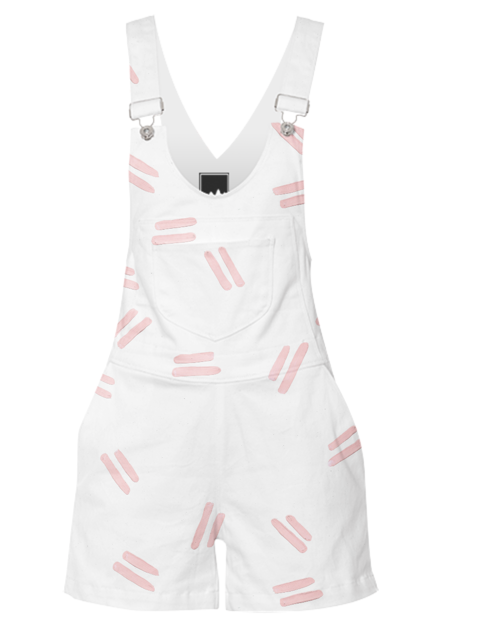 PINK DASH SHORTERALL    Cotton Canvas      One Hundred Sixty Five Dollars