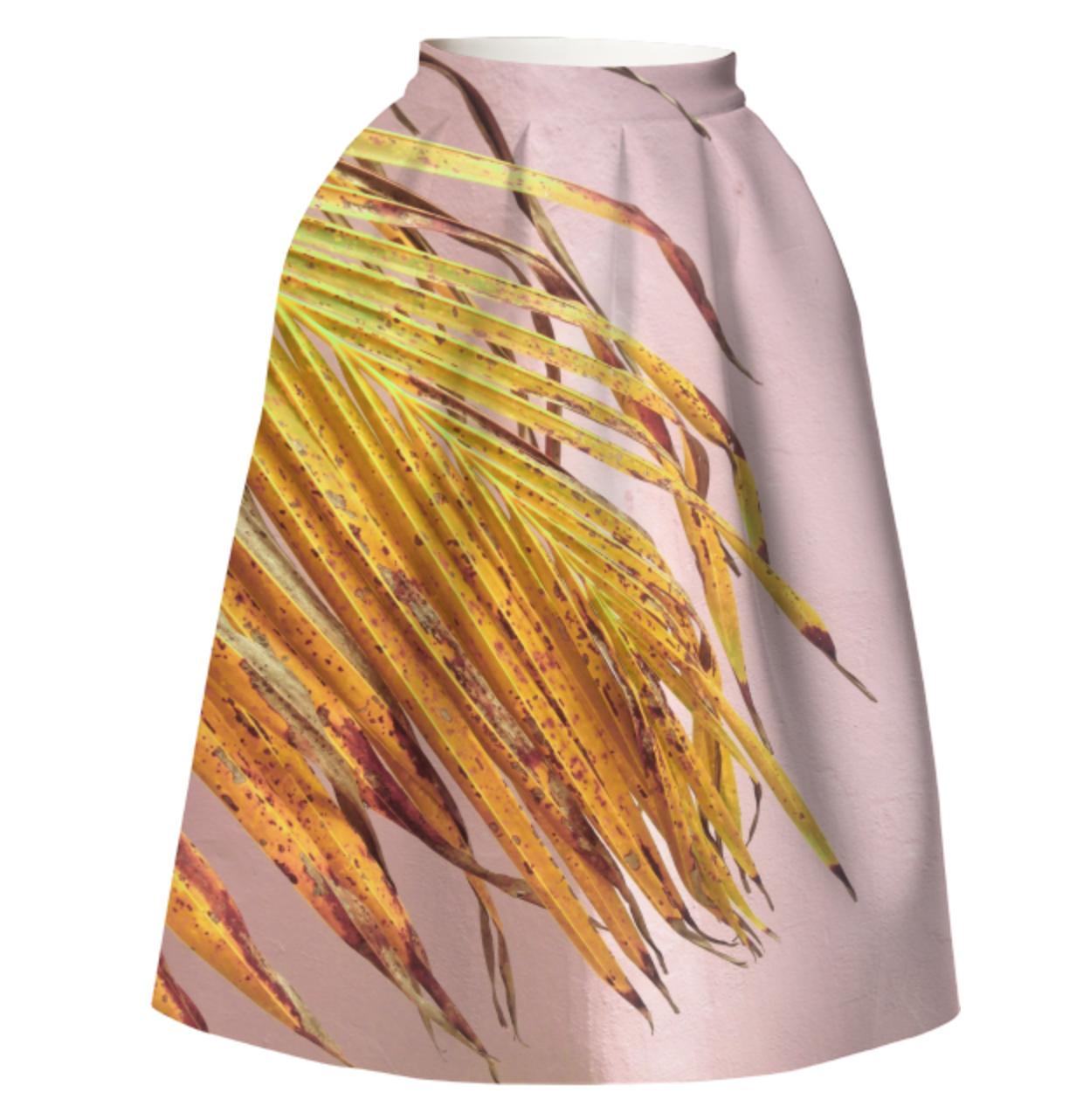 PALMY SKIRT    Neoprene Full Skirt      One Hundred Forty Two Dollars