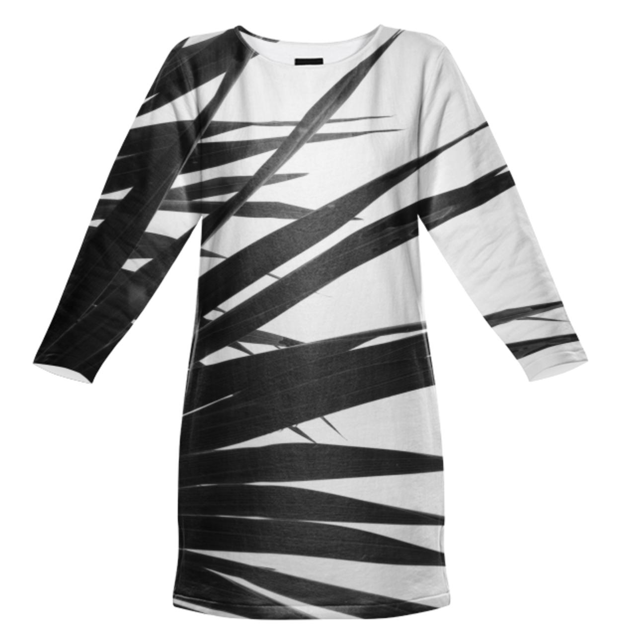 BW PALMY DRESS    Totally All Cotton Sweatshirt Dress      Ninety Five Dollars
