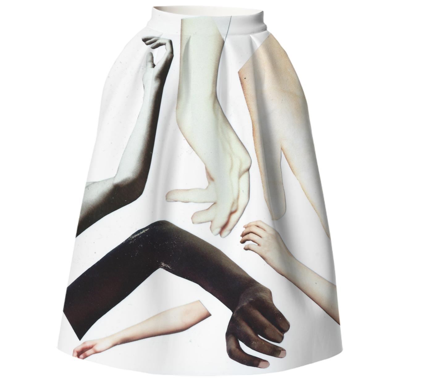HANDY SKIRT    Neoprene Full Skirt      One Hundred Forty Two Dollars