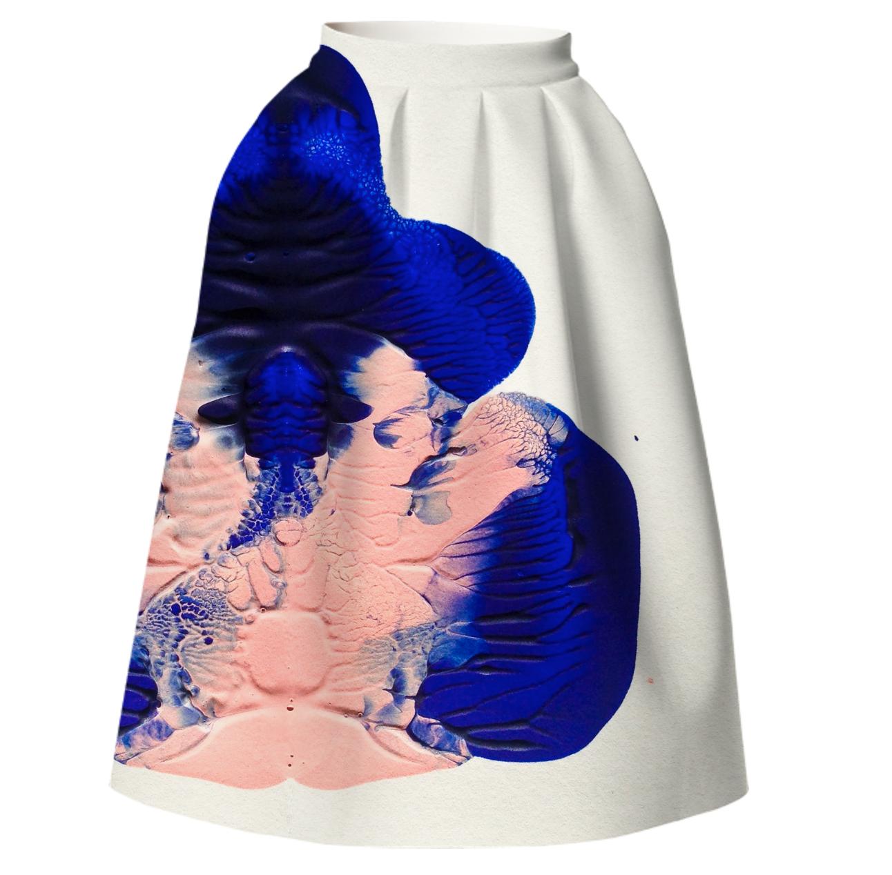 BLOT SKIRT    Neoprene Full Skirt      One Hundred Forty Two Dollars