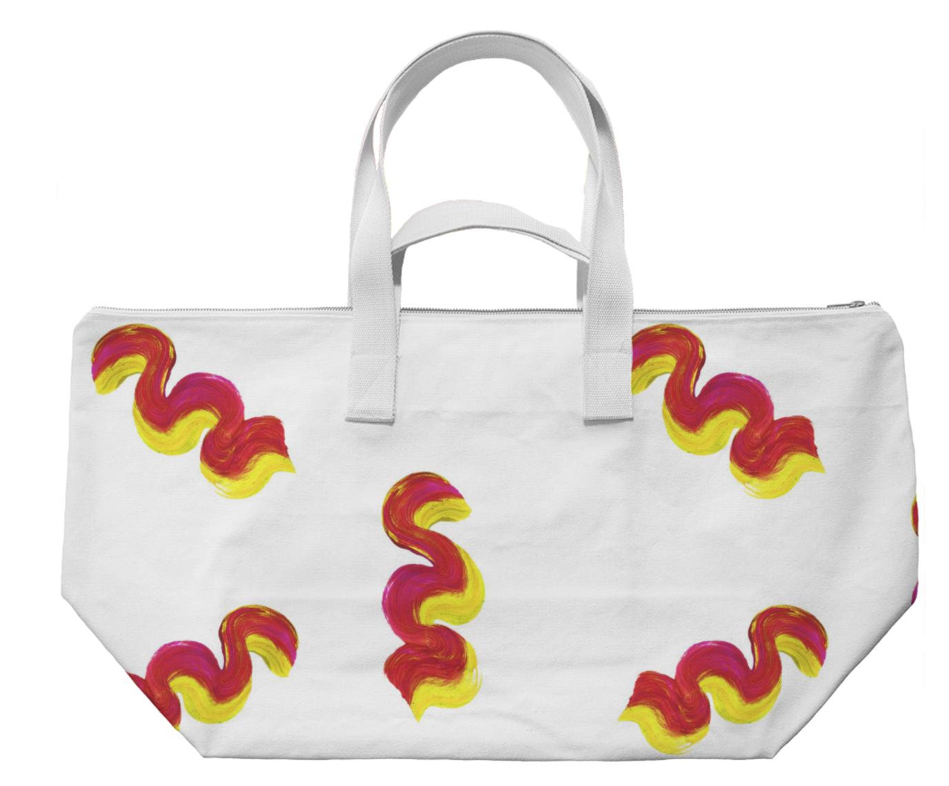 WAVY WEEKENDER III    Cotton Canvas Bag      Seventy Five Dollars