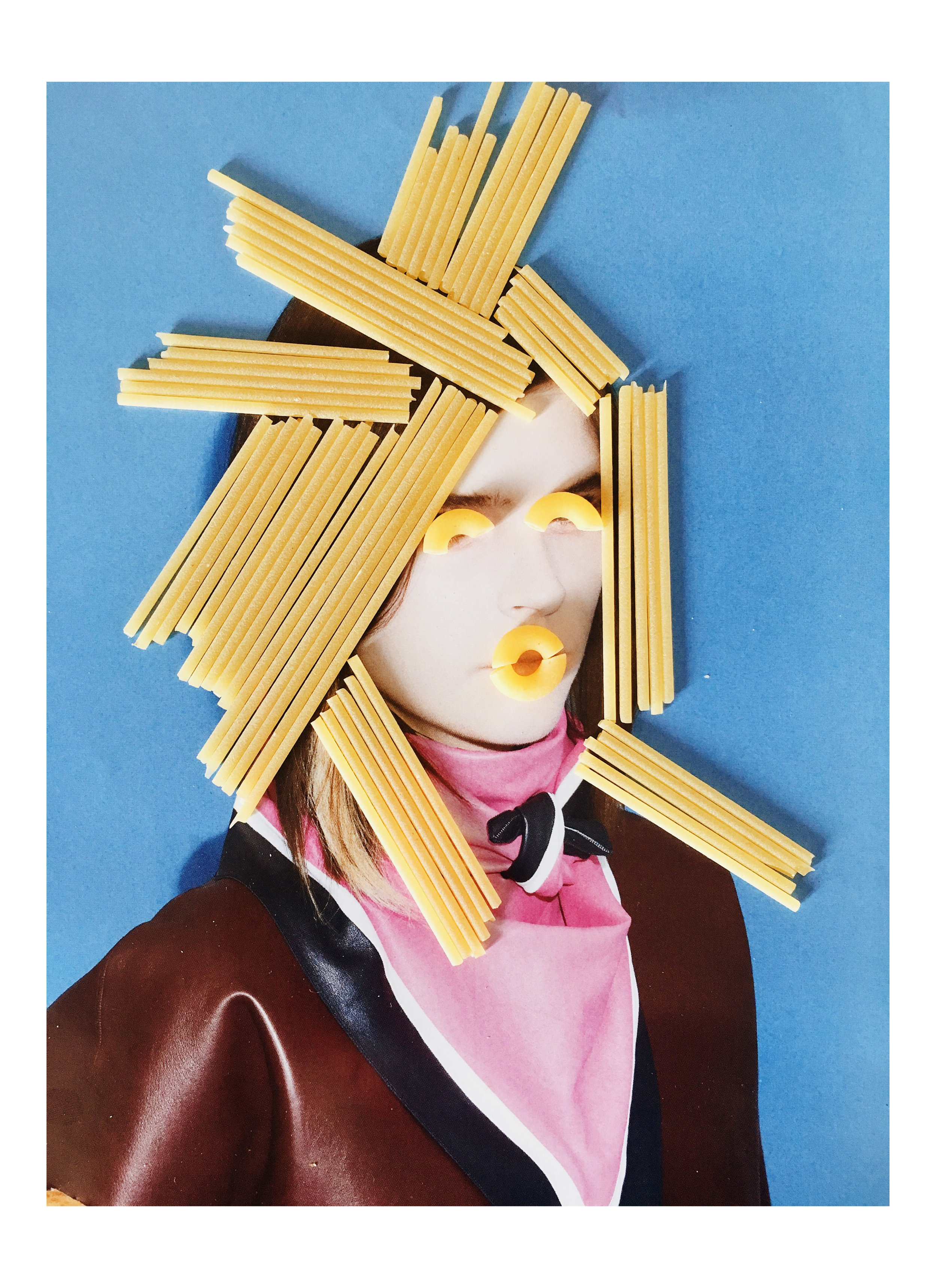 Pasta Portraits  playing with food