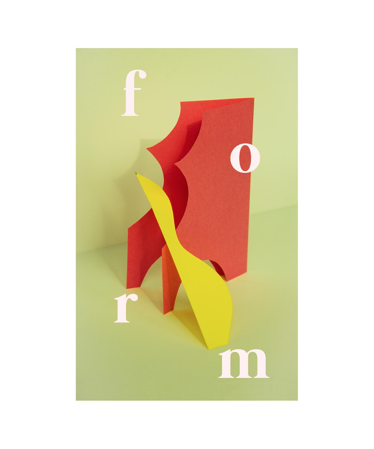 Paper Sculpture Study  design + photography