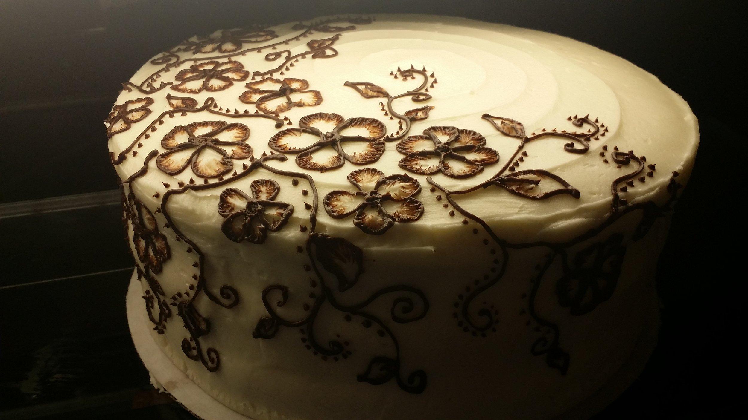 Mehndi/henna inspired cake