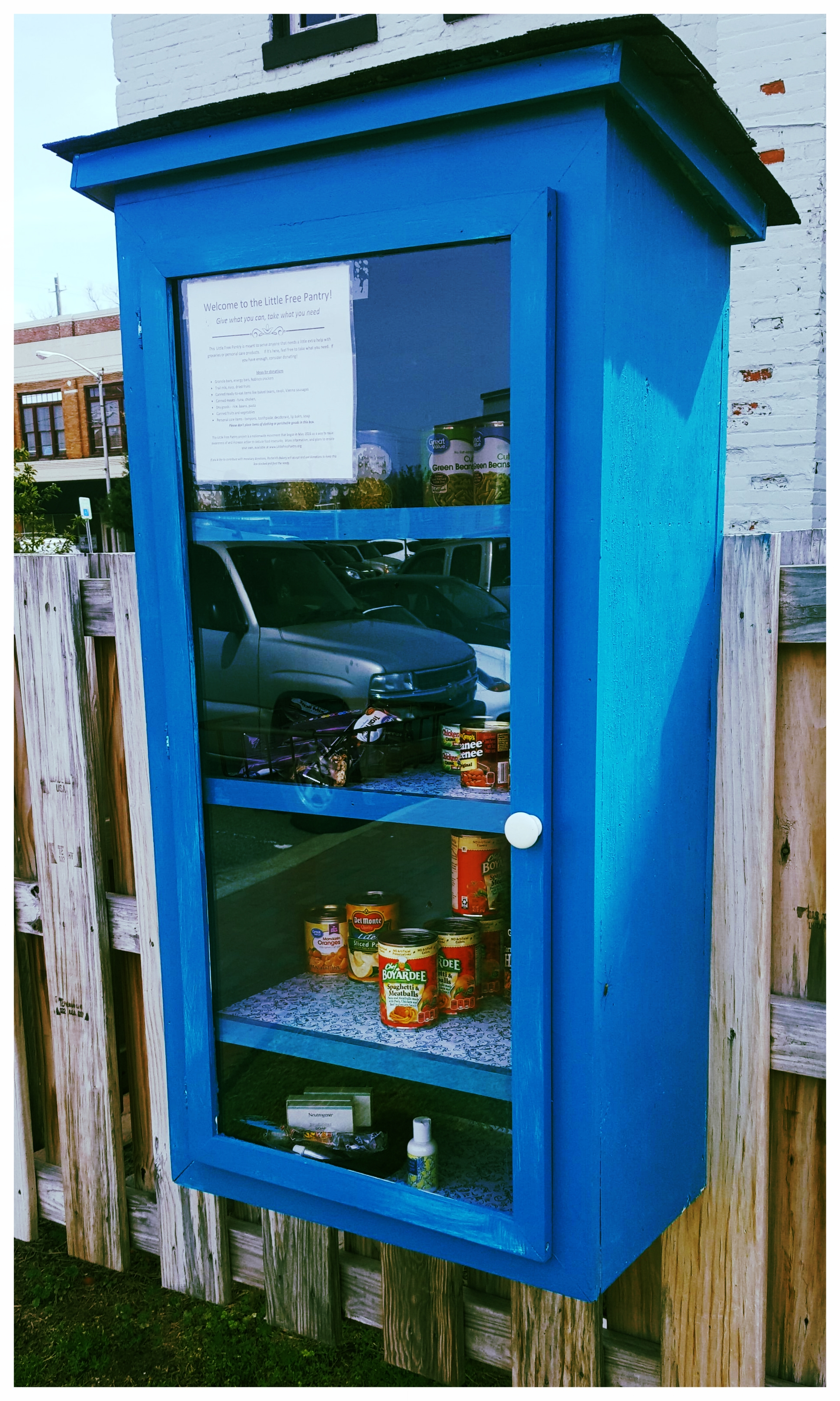 Little Free Pantry - In April 2018, we opened up our