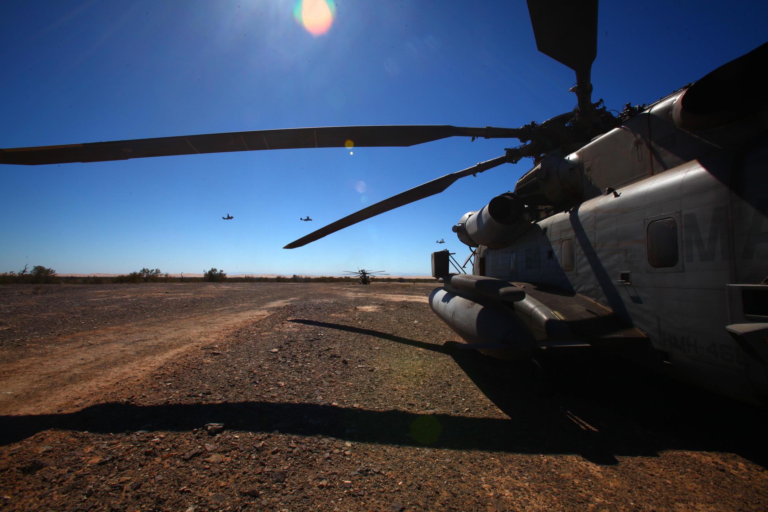 Marine Helicopter blue sky.JPG