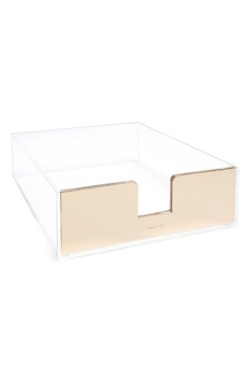 I have this and use it everyday  Kate Spade Acrylic Letter Tray / Nordstrom / $38