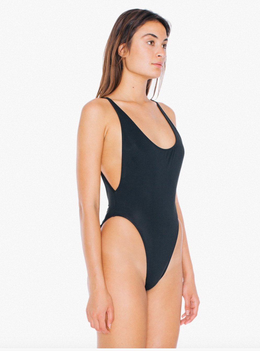 Nylon Tricot High-Cut One-Piece $27 / This bodysuit is very  Bella Hadid  and the back is so sexy! AA has always killed the bodysuit game so if you need a serious one, get it now. Also their shiny  leggings  are going fast which you could wear with this and on game days!