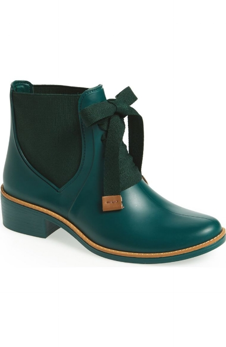 Lacey Short Waterproof Rain Boot / Bernardo Footwear / $102 and $155 for Black  Colorful and classic! I've never seen a boot like this ever and I like ittt.