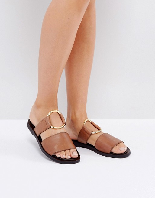 Warehouse Ring Detail Mule Sandal / ASOS / $87  Rings on everything ARE everything