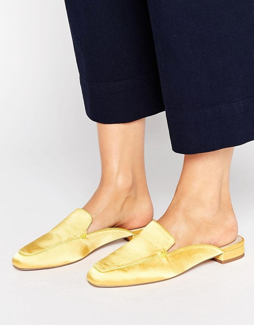 LASHES Square Toe Ballet Mules/ ASOS / $35  Go decadent in canary yellow