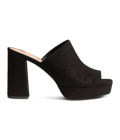 Platform Mules / H&M / $30  So 90's Steve Madden at a reasonable price point