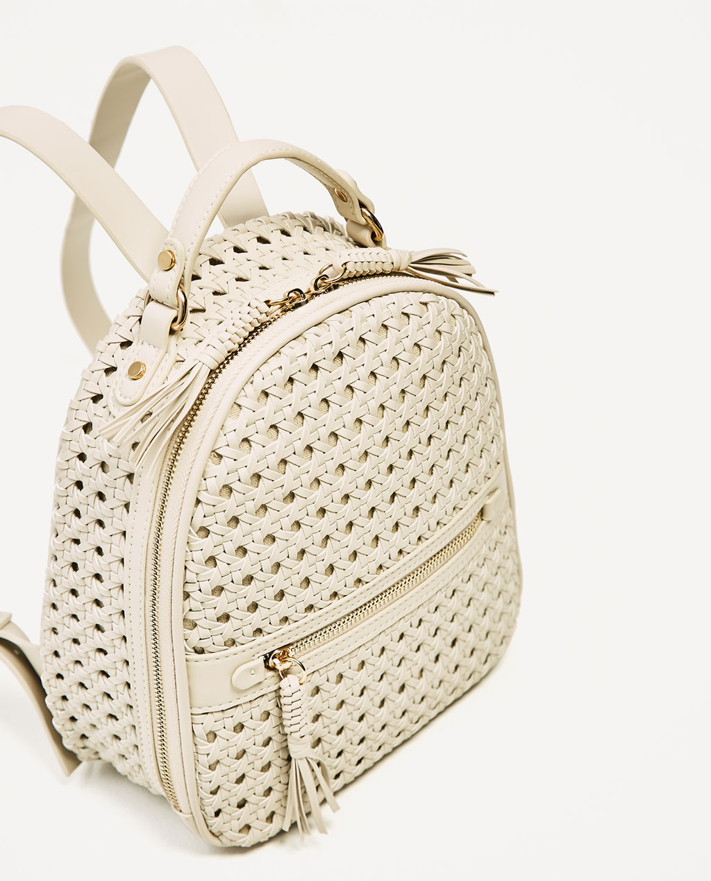 For summer adventures in a vespa :*  Braided Backpack / Zara / $60