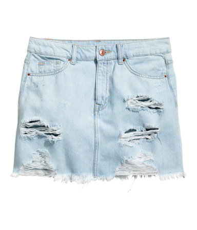 So into the rips and faded color I need it for my collection  Denim Skirt / H&M / $35