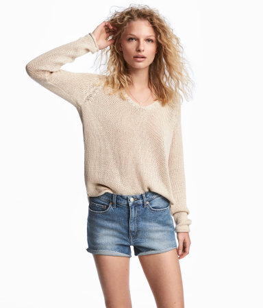 I have one of these types of sweaters from Club Monaco and it's been a staple for 4+ years  Loose-knit Sweater / $15 / H&M