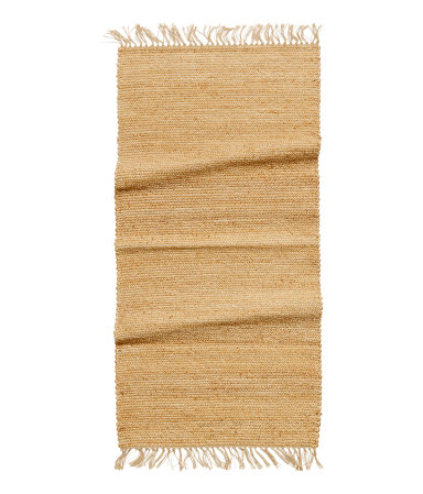 You could have this rug forever and still love it  Jute Rug with Fringe / $25 / H&M