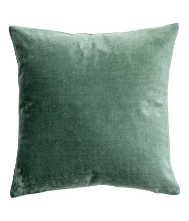 I bought these with the duvet as accent pillows  Velvet Cushion Cover / $10 / H&M