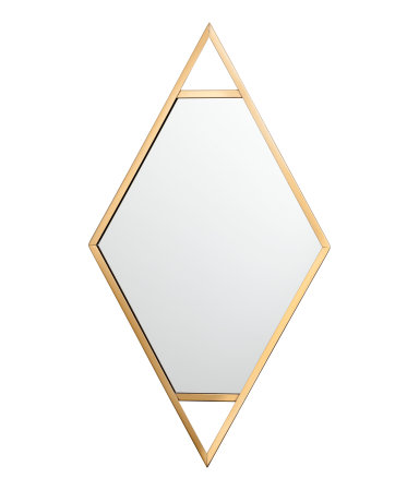 This is insane how cheap and lovely this is  Metal-framed Mirror / $25 / H&M