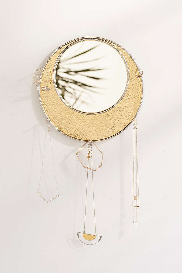 The design of this is divine, big fan of circles  Luna Mirrored Moon Jewelry Storage / Urban Outfitters / $24