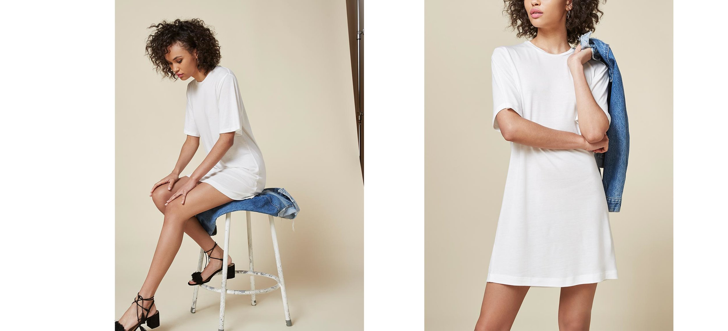 that everyday white dress I've been looking to throw on when running late  Dozer Dress / Reformation / $41