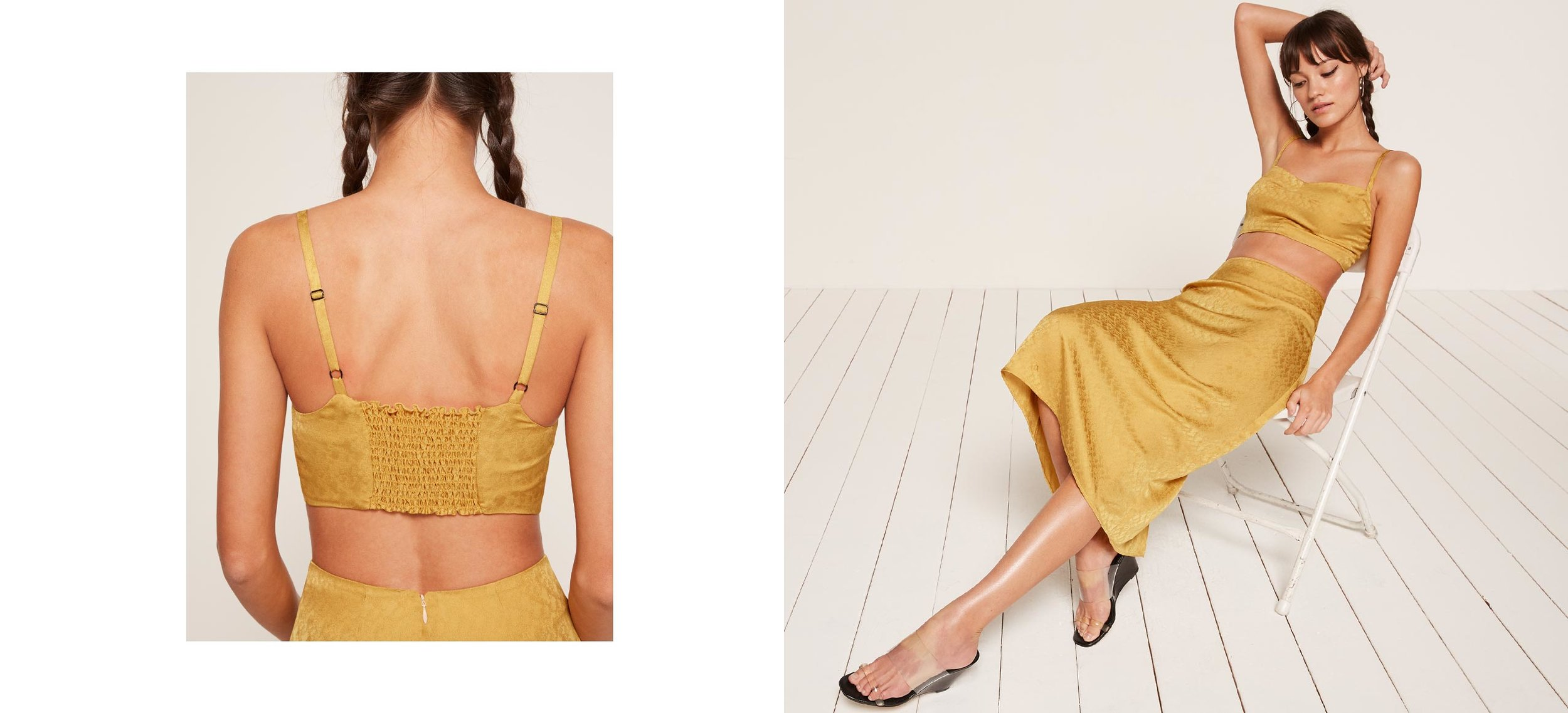 here comes the cabana girl   Nova Two Piece / Reformation / $139