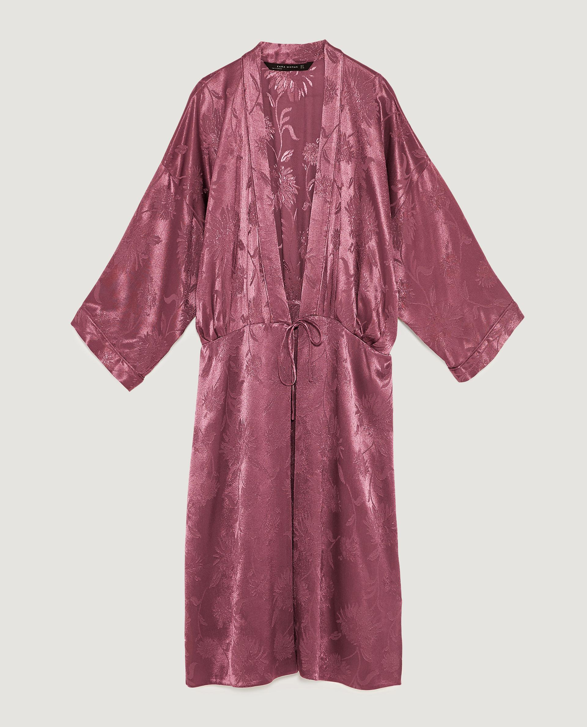 just in case you need the kimono too  Shimmery Jacquard Kimono / $80 / Zara