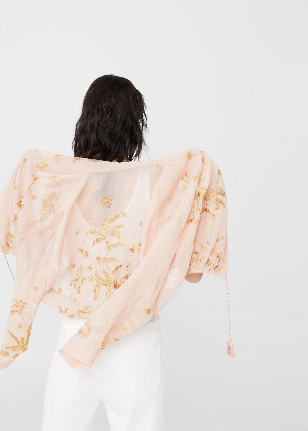 I'm feeling like floating on in this jacket  Embroidered flowy jacket / $99 / Mango