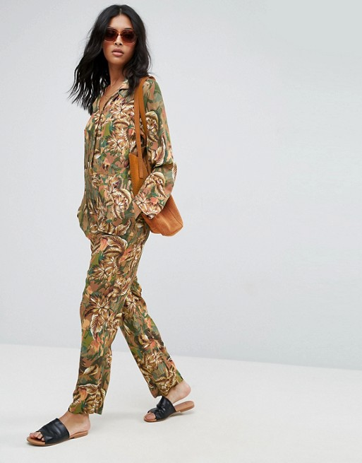 crazy crazy good, a solid outfit for a meet cute  ASOS Boilersuit in Camo Floral Print / $76 / ASOS