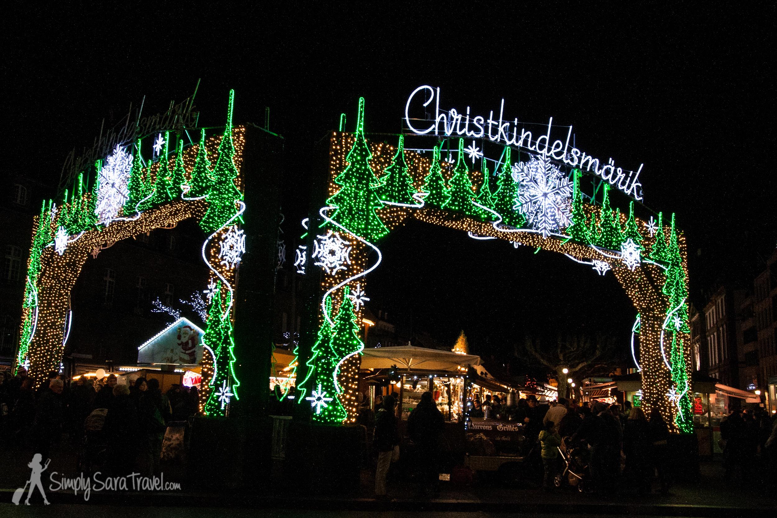 The Christmas market Christkindelmarik, in Strasbourg, France