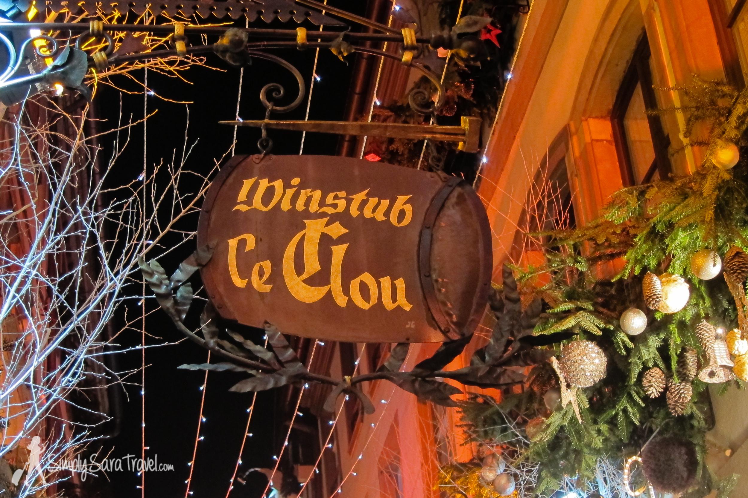 Winstub le Clou in Strasbourg, France
