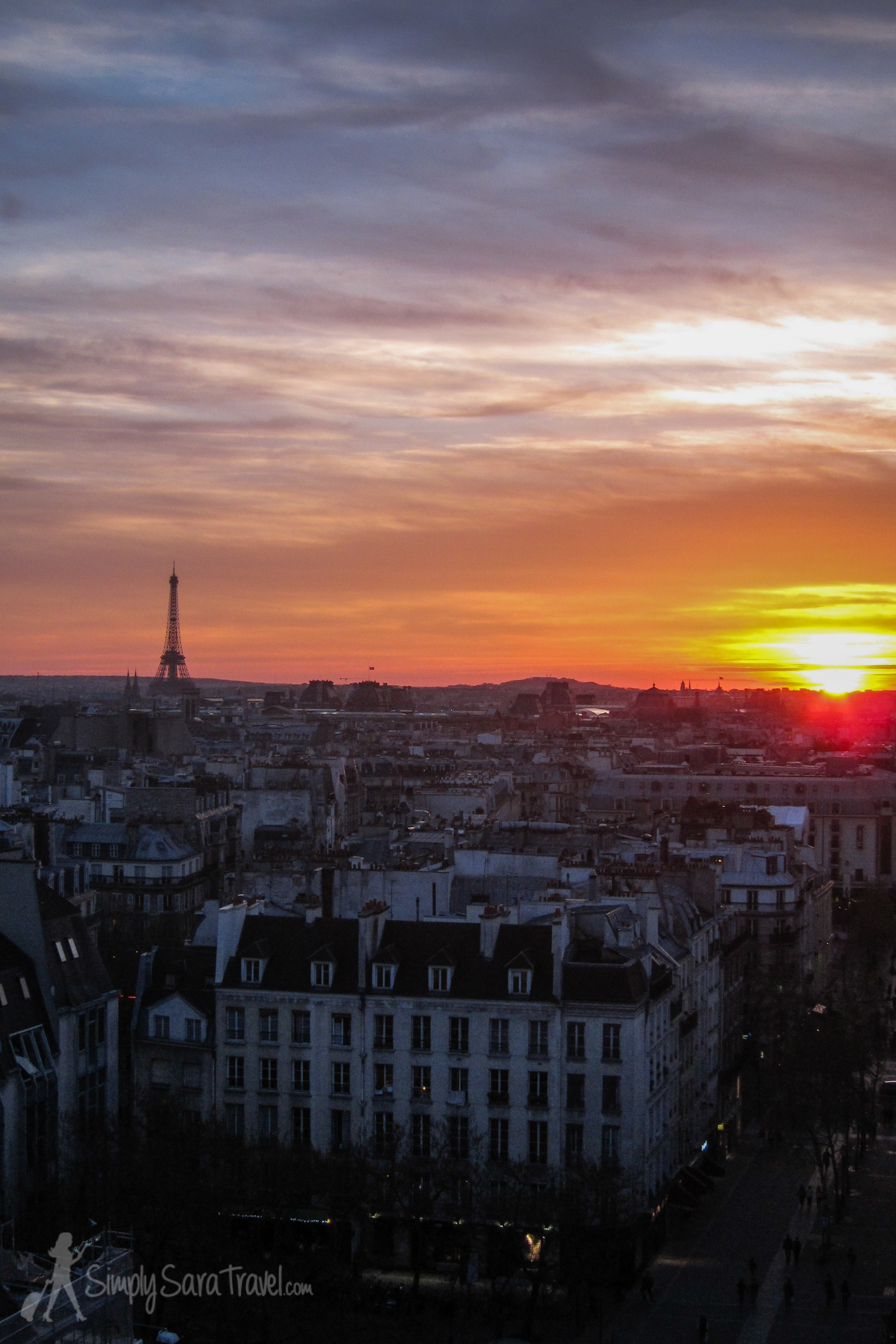 Sunset from the top floor of  Centre Pompidou , one of my favorite museums and views of Paris