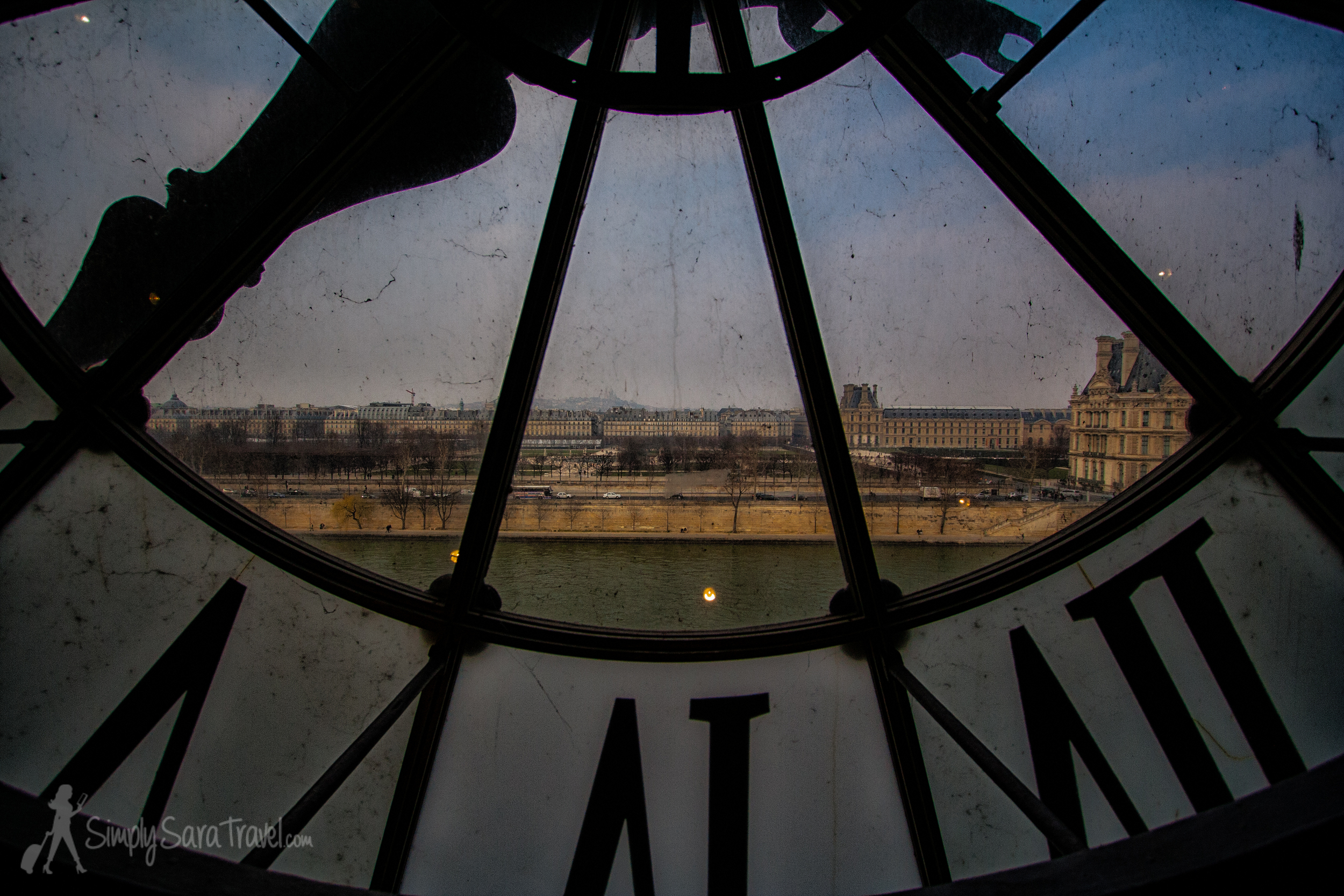 At Musée d'Orsay , looking across the river atMusée du Louvre