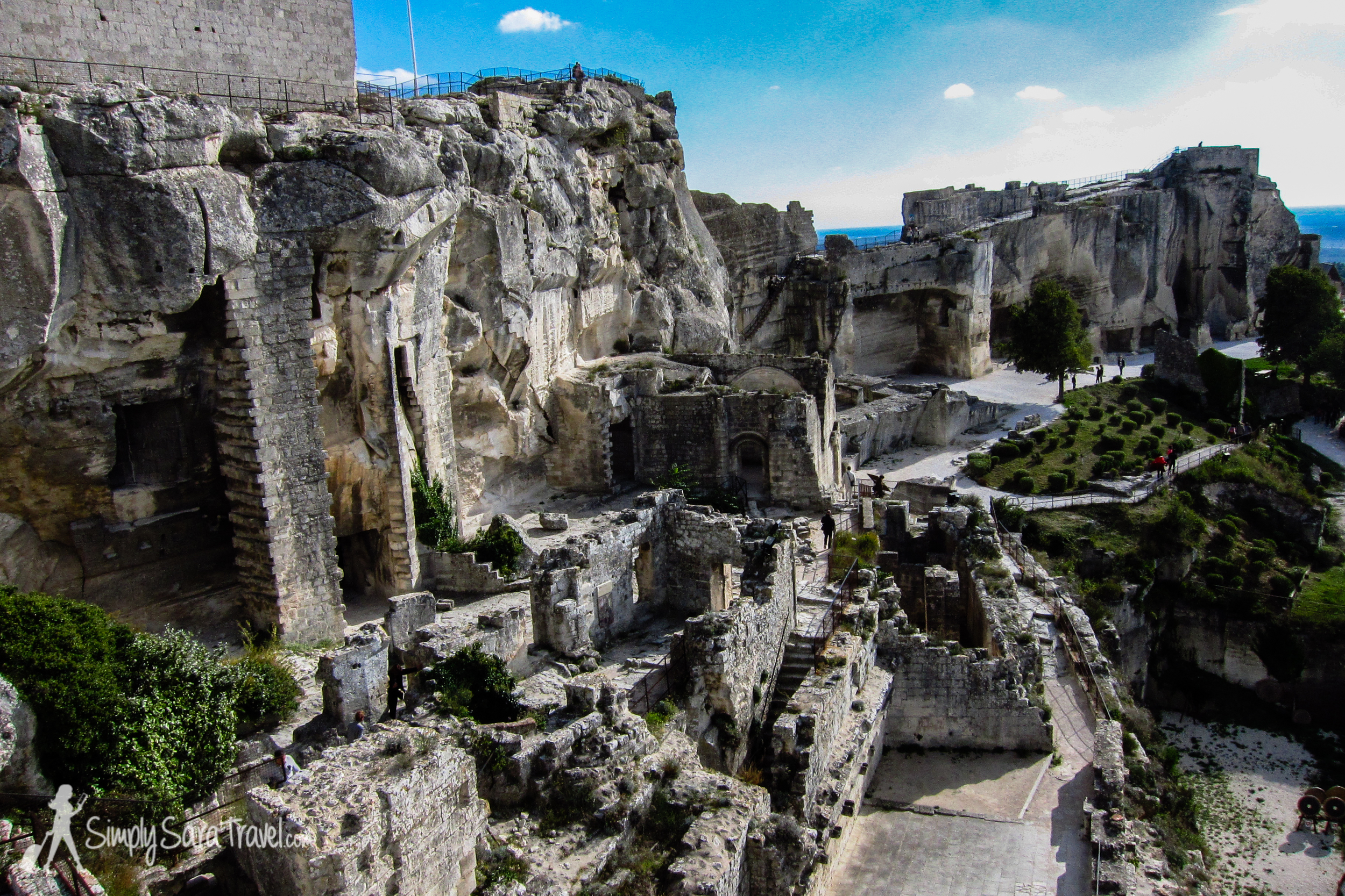 At the chateau-fortress of Les-Baux-de-Provence  (October 2013)