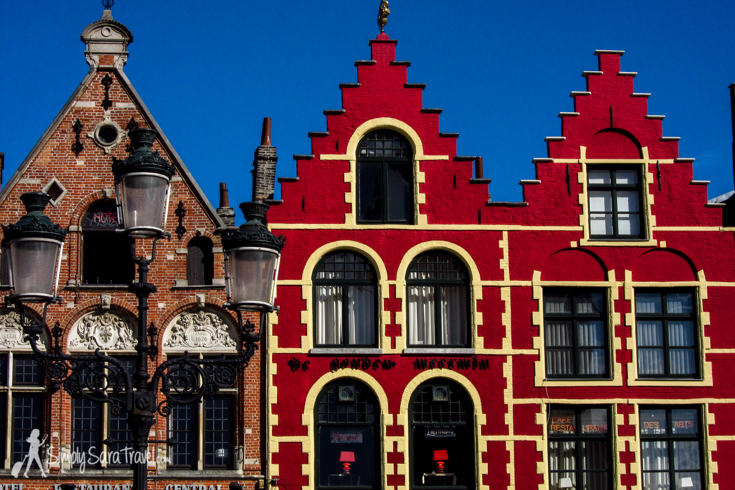 One town I can keep going back to is quaint Bruges. Here is some lovely architecture from  Markt square . (September 2013)