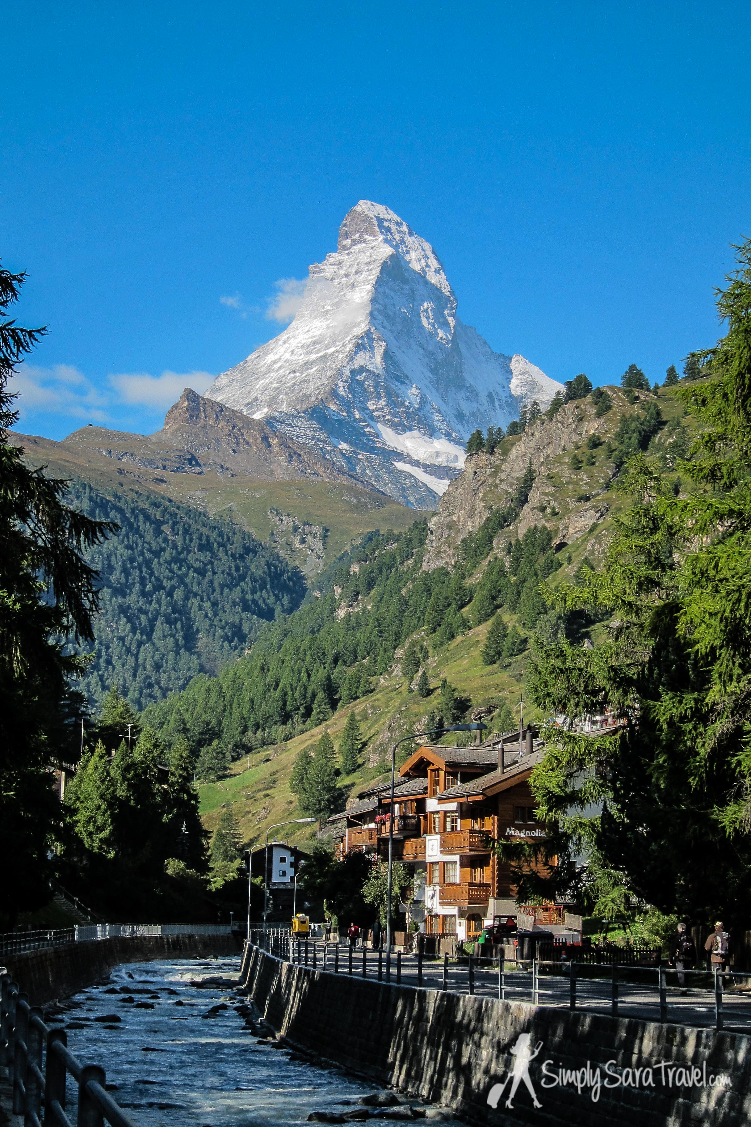 The Matterhorn as seen from  Zermatt, Switzerland