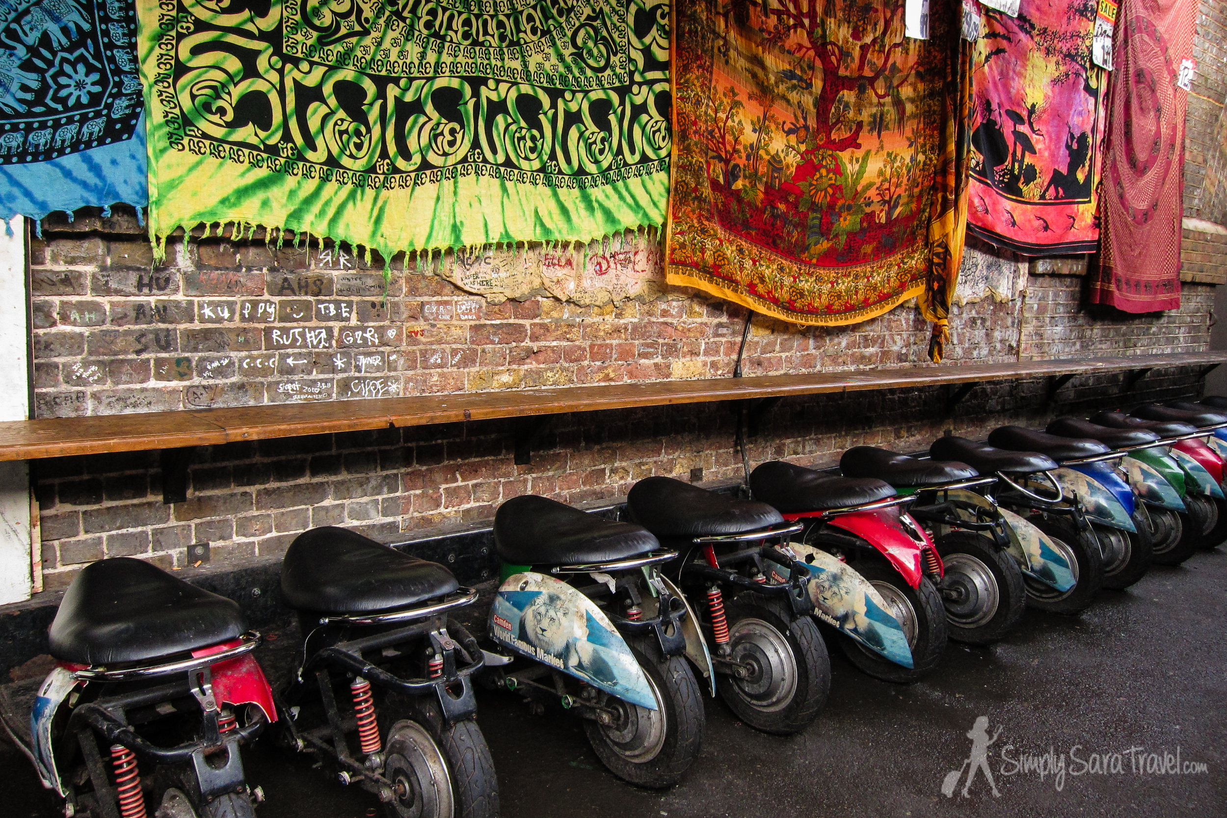 Cool seating at the  Camden Lock Market