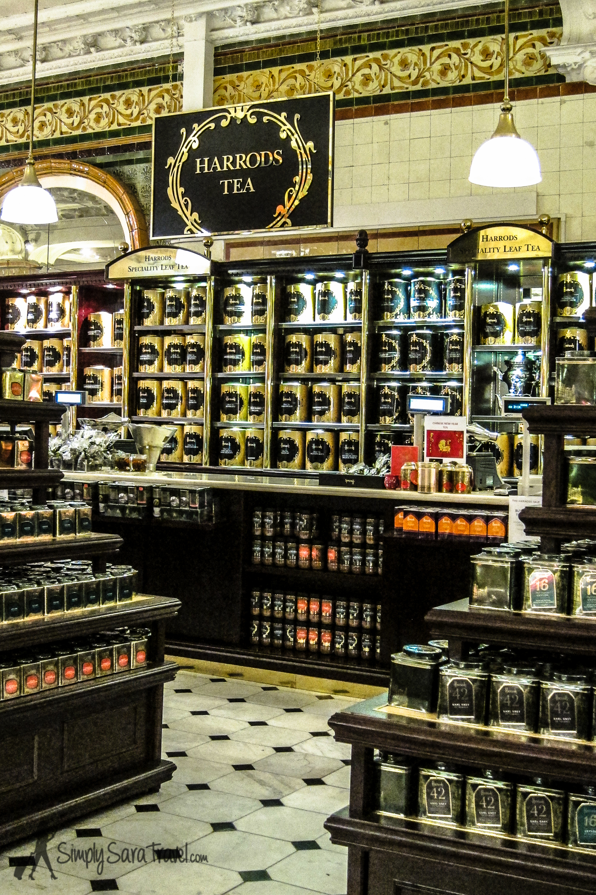 Have you ever found a safe, happy place while away from home?  Harrods'  food hall became that place for me when I was lonely and missing home. I didn't need to buy or eat anything - my spirits were lifting by just walking around!